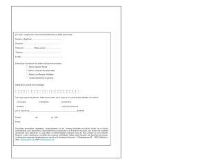 Por favor, cumplimente esta solicitud indicando sus datos personales: