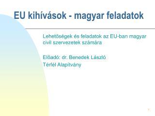 EU kih�v�sok - magyar feladatok