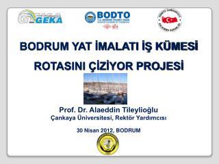 BODRUM YAT İMALATI İŞ KÜMESİ ROTASINI ÇİZİYOR PROJESİ  Prof. Dr. Alaeddin Tileylioğlu