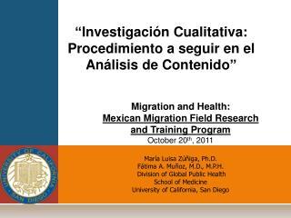 """"""" Investigación Cualitativa : Procedimiento  a  seguir  en el  Análisis  de  Contenido """""""