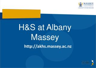 H&S at Albany Massey