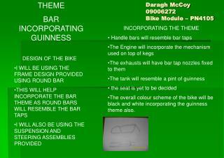 Daragh McCoy  09006272 Bike Module � PN4105