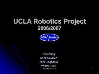 UCLA Robotics Project 2006/2007
