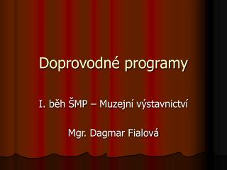 Doprovodné programy