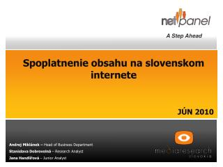 Spoplatnenie obsahu na slovenskom internete JÚN 2010