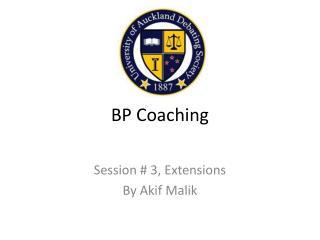 BP Coaching