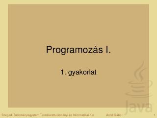 Programozás I.