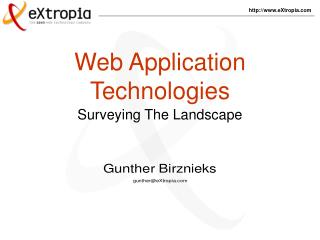 Web Application Technologies