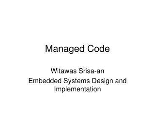 Managed Code