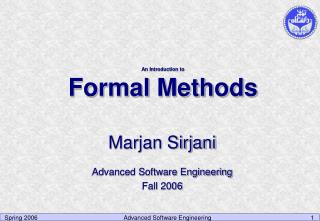 An Introduction to Formal Methods