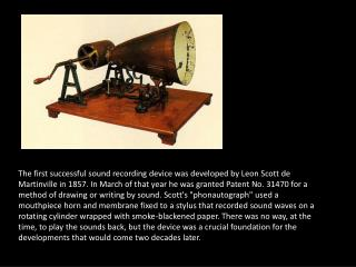 The Edison Cylinder Phonograph