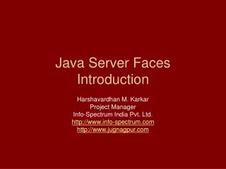 Java Server Faces Introduction