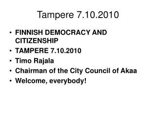 Tampere 7.10.2010