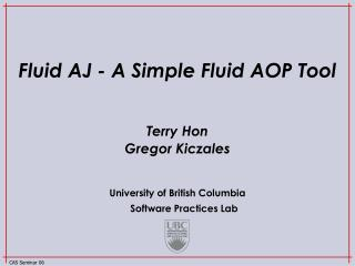 Fluid AJ - A Simple Fluid AOP Tool