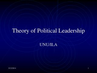 Theory of Political Leadership