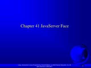 Chapter 41 JavaServer Face