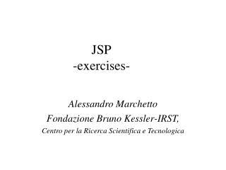JSP -exercises-