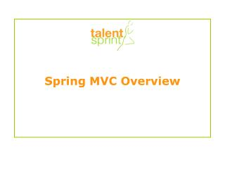 Spring MVC Overview