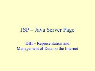 JSP � Java Server Page
