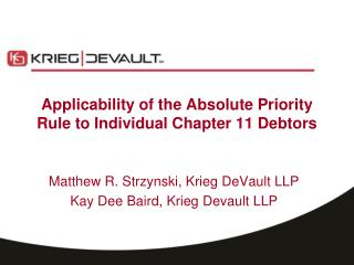 Applicability of the Absolute Priority Rule to Individual Chapter 11 Debtors