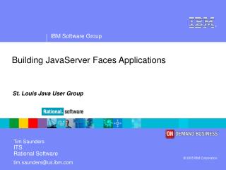 Building JavaServer Faces Applications
