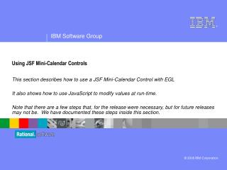 Using JSF Mini-Calendar Controls