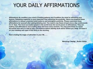 YOUR DAILY AFFIRMATIONS