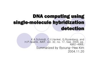 DNA computing using  single-molecule hybridization detection