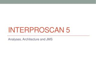 InterProScan  5