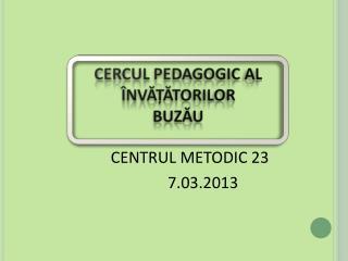 CENTRUL METODIC 23 7.03.2013
