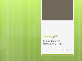 APA 6 th