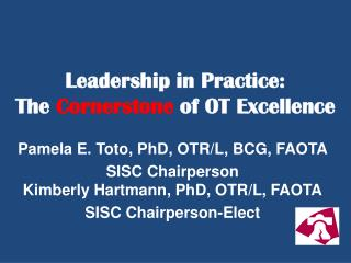 Leadership in Practice:  The  Cornerstone  of OT Excellence