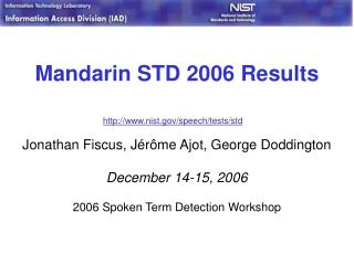 Mandarin STD 2006 Results