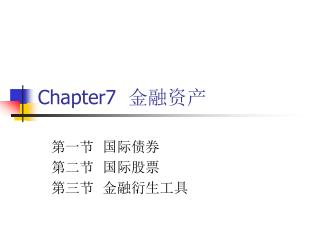 Chapter7   金融资产