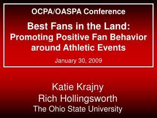 Katie Krajny  Rich Hollingsworth The Ohio State University