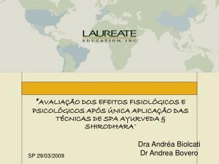 Dra Andr�a Biolcati Dr Andrea Bovero