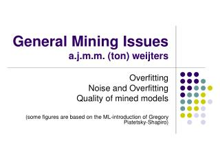 General Mining Issues a.j.m.m. (ton) weijters