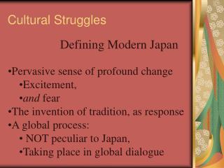 Cultural Struggles