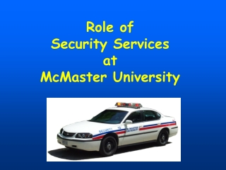 Working to Provide  On-Campus Security