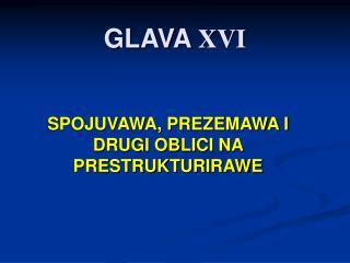 GLAVA  XVI