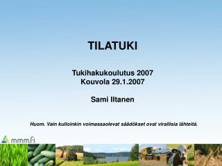 AIKATAULU KEVÄT 2007