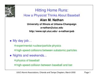 My day job… experimental nuclear/particle physics