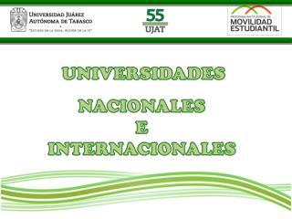 NACIONALES  E  INTERNACIONALES