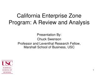 California Enterprise Zone Program: A Review and Analysis