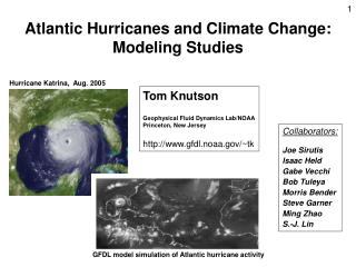 Atlantic Hurricanes and Climate Change:  Modeling Studies