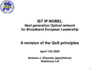 IST IP NOBEL Next generation Optical network for Broadband European Leadership