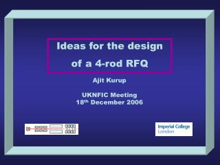 Ideas for the design  of a 4-rod RFQ