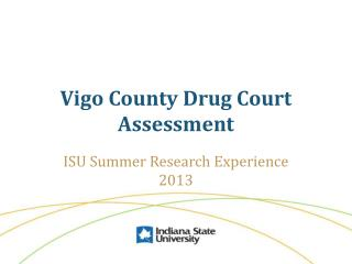 Vigo County Drug Court Assessment