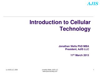 Introduction to Cellular Technology