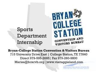 Sports Department Internship